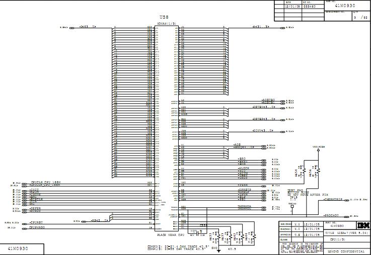 Laptop Lenovo Thinkpad R60 Schematic Diagram  U2013 Laptop Schematic