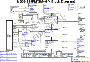 Sony MBX-130 Block Diagram