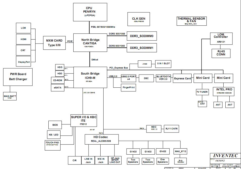 Acer Aspire 8920 Laptop Schematic Diagram  U2013 Laptop Schematic