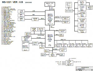 MSI MS-1221 Block Diagram