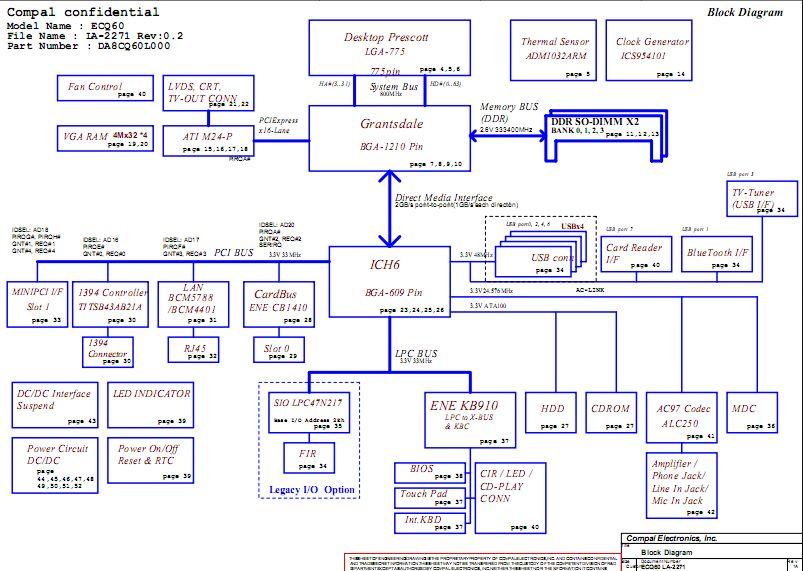 Acer Aspire 1800 Schematic Diagram Ecq60 La