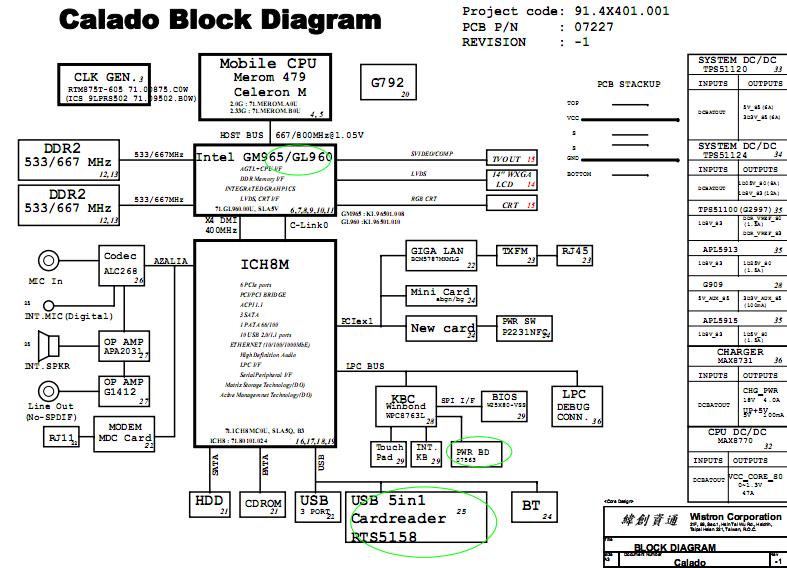 Acer Aspire 2420 2920 2920z Schematic Diagrams  U2013 Laptop