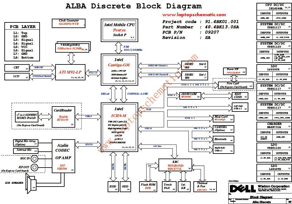 dell inspiron 1440 schematic diagram alba discrete   u2013 laptop schematic