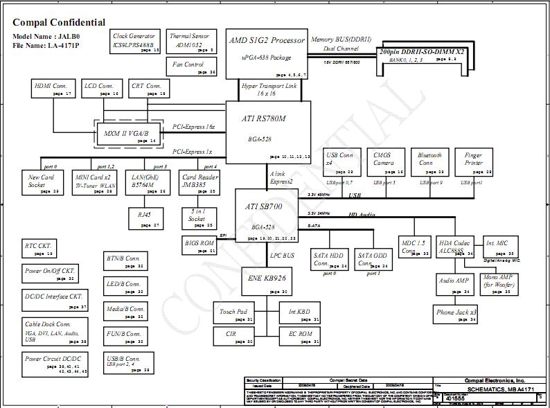 Acer Aspire 5530 5530g 5230 Schematic Diagram