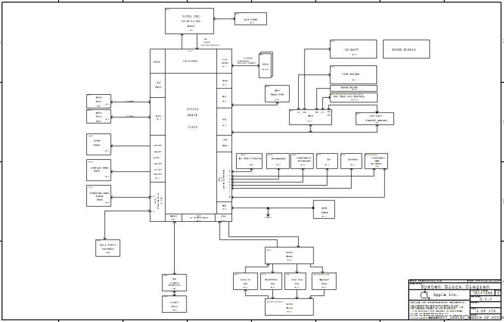 Macbook Pro Laptop Schematic Notebook Schematic Laptop Circuit