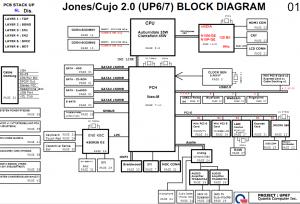 HP Pavilion DV6 DV7 (UP67) Block Diagram