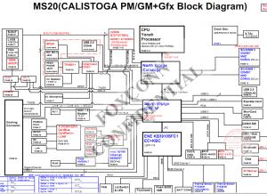 SONY VAIO VGN-AR130G (MS20 MBX-156) Block Diagram