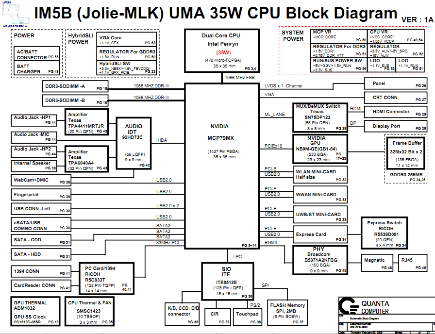 dell studio xps 1340b  uma  schematic im5b  u2013 laptop schematic