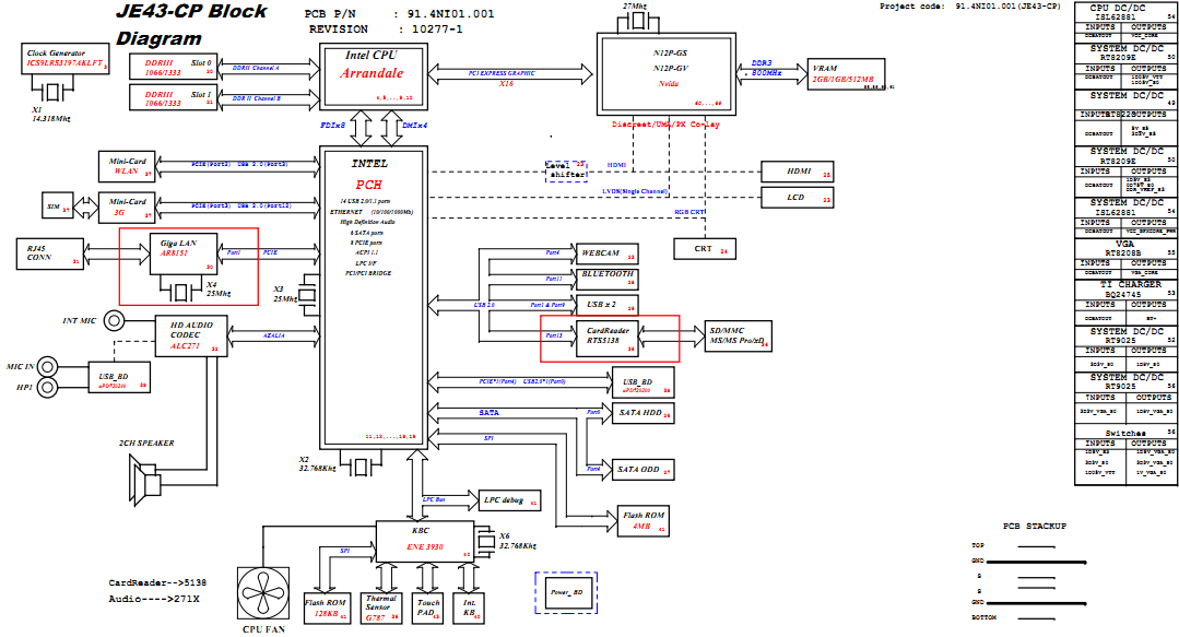 Acer Aspire 4743  4743z Schematic  Je43