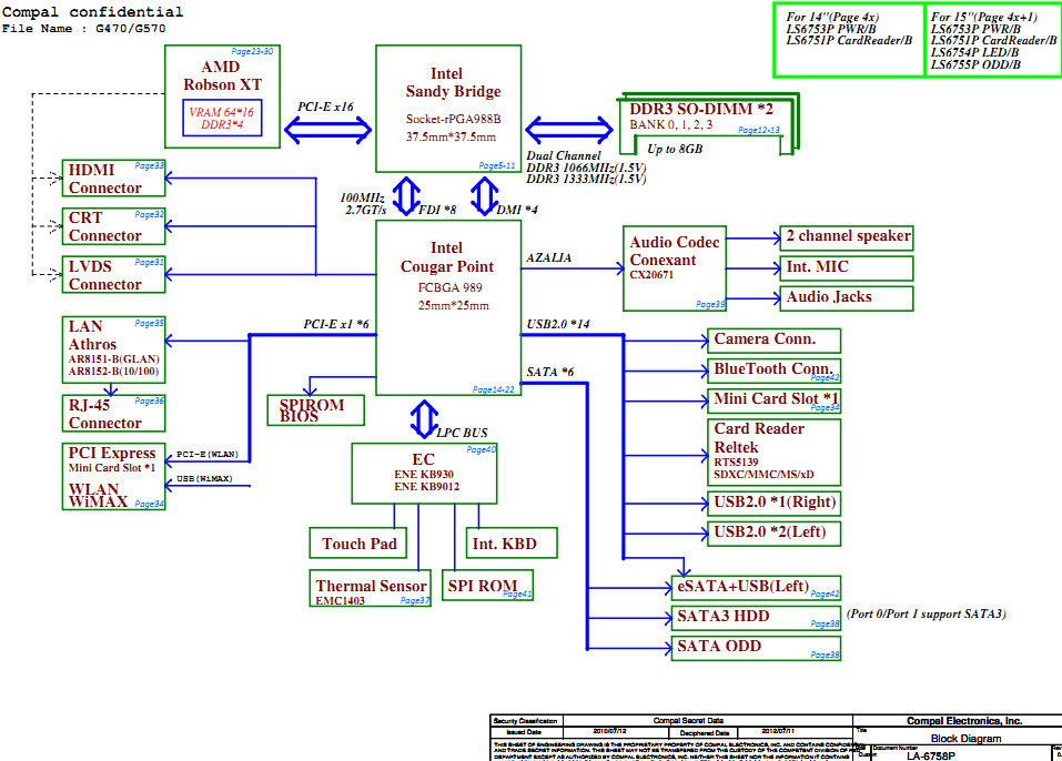 Lenovo Ideapad Y770 Schematic  La