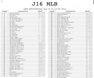 J16 MLB Contents