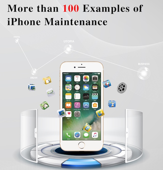 More than 100 examples of iPhone maintenance Book