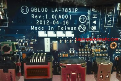 Dell XPS 15 QBl00 LA-7851P Motherboard